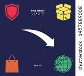 arrow down icon. graphic... | Shutterstock .eps vector #1457889008