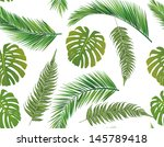 seamless leaves background | Shutterstock .eps vector #145789418