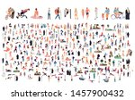 crowd of flat illustrated... | Shutterstock .eps vector #1457900432