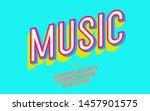 vector music font modern... | Shutterstock .eps vector #1457901575