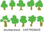 vector of trees collection .... | Shutterstock .eps vector #1457903645