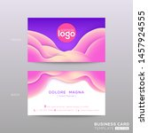 business card with abstract... | Shutterstock .eps vector #1457924555