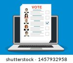 online ballot paper with...