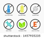 set of icons  gluten free ... | Shutterstock .eps vector #1457935235