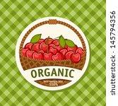 cherry basket | Shutterstock .eps vector #145794356