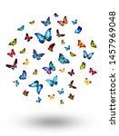 flock of flying butterflies...   Shutterstock . vector #1457969048
