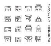 shop building line icon.set of... | Shutterstock .eps vector #1457972042