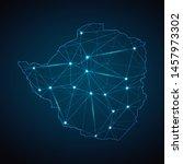 zimbabwe map   abstract... | Shutterstock .eps vector #1457973302