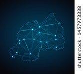 rwanda map   abstract geometric ... | Shutterstock .eps vector #1457973338