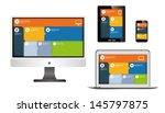 responsive web design on... | Shutterstock .eps vector #145797875