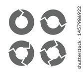 set arrows rotation circle...... | Shutterstock .eps vector #1457986922