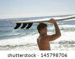 portrait of handsome young man...   Shutterstock . vector #145798706