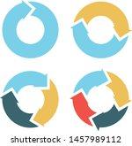 set arrows rotation circle...... | Shutterstock .eps vector #1457989112