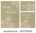 set of wedding or invitation... | Shutterstock .eps vector #145799432