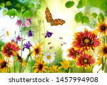 image of flowers and a... | Shutterstock . vector #1457994908