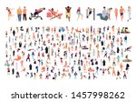 crowd of flat illustrated... | Shutterstock .eps vector #1457998262