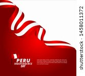 peru independence day... | Shutterstock .eps vector #1458011372