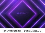black geometric shapes with... | Shutterstock .eps vector #1458020672