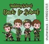 military school.  back to... | Shutterstock .eps vector #1458021515