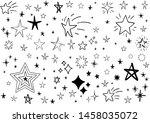 set of hand drawn stars. doodle ...   Shutterstock .eps vector #1458035072