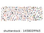 crowd of flat illustrated... | Shutterstock .eps vector #1458039965