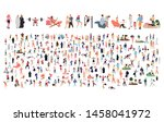 crowd of flat illustrated... | Shutterstock .eps vector #1458041972