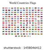 world flags illustrator vector... | Shutterstock .eps vector #1458046412
