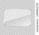 vector illustration of glass or ... | Shutterstock .eps vector #1458062705