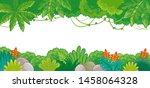 vector background on jungle...   Shutterstock .eps vector #1458064328