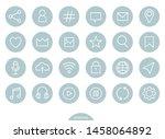 best useful web icon set vector   Shutterstock .eps vector #1458064892