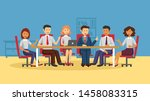 business meeting at the big... | Shutterstock .eps vector #1458083315