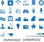 set of internet of things... | Shutterstock .eps vector #1458095252