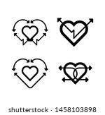 black arrow with black heart... | Shutterstock .eps vector #1458103898