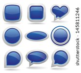 big blue button collection | Shutterstock .eps vector #145811246