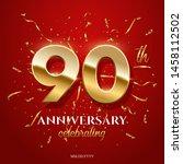 90 golden numbers and...   Shutterstock .eps vector #1458112502