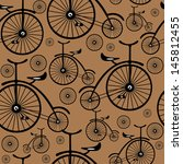seamless pattern retro bicycle  | Shutterstock . vector #145812455