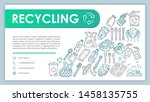 recycling web banner  business...