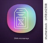 dna microarray app icon. dna...