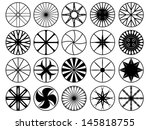 set of wheel rims illustrated... | Shutterstock .eps vector #145818755