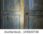 Green Antique Wooden Door...