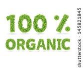 100  organic text of green | Shutterstock . vector #145821845