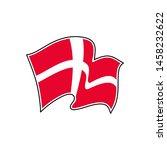 the flag of denmark. banner... | Shutterstock .eps vector #1458232622