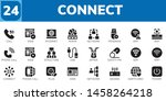 connect icon set. 24 filled... | Shutterstock .eps vector #1458264218