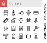 set of cuisine icons such as... | Shutterstock .eps vector #1458266042