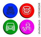 set of mechanic icons such as...