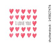 stylish love card with red... | Shutterstock .eps vector #145827476