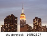 midtown manhattan skyline at... | Shutterstock . vector #14582827