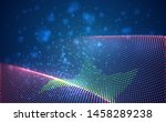 vector bright glowing country... | Shutterstock .eps vector #1458289238
