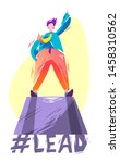 concept in flat style with man... | Shutterstock .eps vector #1458310562