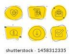 scroll down  divider document... | Shutterstock .eps vector #1458312335